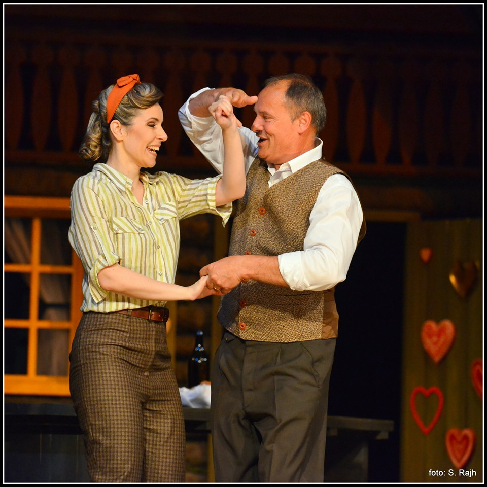 Katja dances with Mr. Gabernik (Dušan Topolovec)