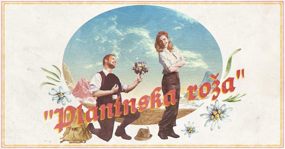the poster of the operetta by Rok Predin, with tenor Martin Sušnik as Miran and Valentina Čuden as Katja